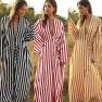 Spring New Fashion Women's Big Stripe Comfortable Long Shirt Single-breasted All-match Shirt NSDF1601