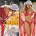 bohemian holiday beach print long lace-up sunscreen shirt NSDF1606