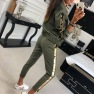 Fashion Casual Sequin Stitching Jacket Trousers Sports Suit  NSYF1830