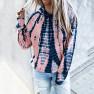 Loose Tie-dye Printed Hooded Long-sleeved Sweater NSYF1834
