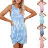 Women's Tie-dye Printing Loose Vest Dress NSYF1844