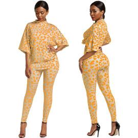 Loose Fashion Sexy Leopard Print Two-piece  NSLM28967