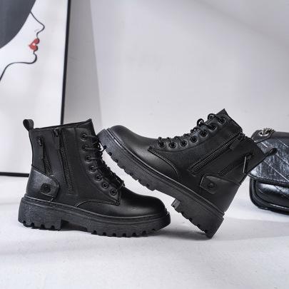 Double Zipper Plus Velvet Short Boots  NSNL30431