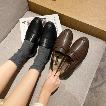 All-match Small Leather Shoes  NSHU33058