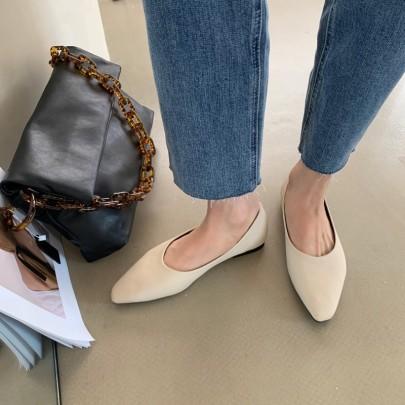 Fashion Slim Shallow Mouth Flat Shoes NSHU33069