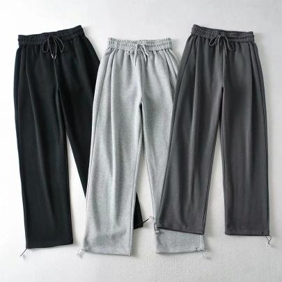 Elastic Waist Strapped Loose Guard Pants NSHS34180