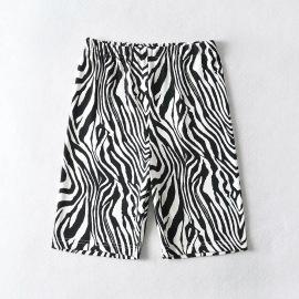Summer Sports Fashion Line Stripe Printing High Waist Shorts NSHS25461