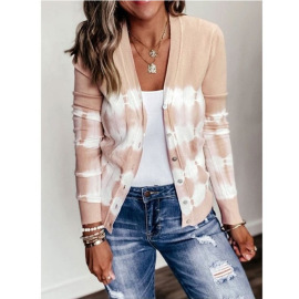 Gradient Striped Knitted Cardigan  NSLZ26697