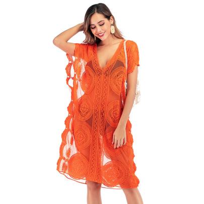 Bohemian Style Lace Beach Dress NSOY26740