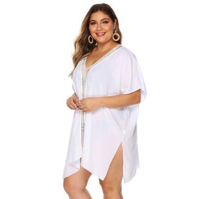 Plus Size Split Lace Beach Dress NSOY26863