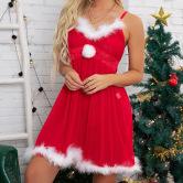 Lace Suspender Pajamas Nihaostyles Wholesale Christmas Costumes NSFCY83021