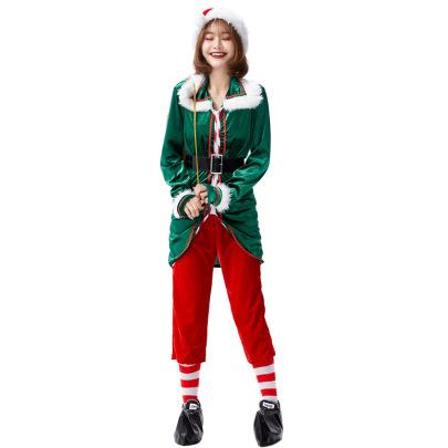 Christmas Cosplay Santa Green Elf Suit Nihaostyles Wholesale Christmas Costumes NSPIS83070