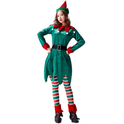 Christmas Cosplay Green Fairy Costume Suit Nihaostyles Wholesale Clothing NSPIS83072