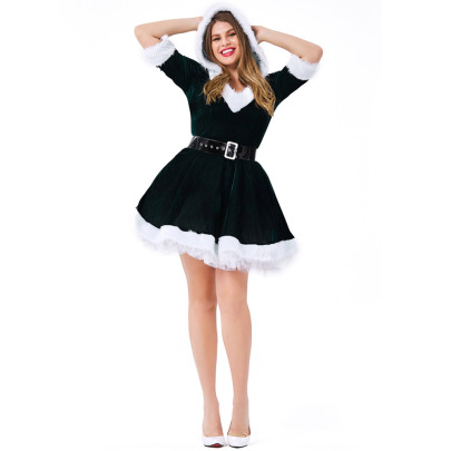 Christmas Cosplay Elf Dress With Belt Nihaostyles Wholesale Christmas Costumes  NSPIS83074
