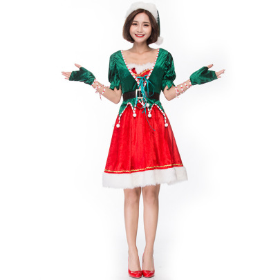 Christmas Cosplay Green Elf Suit Nihaostyles Wholesale Christmas Costumes NSPIS83075