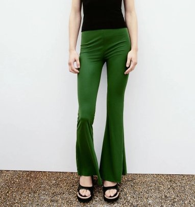 Drape Casual  Flared Pants Nihaostyles Wholesale Clothing NSAM83129