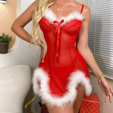 Mesh Suspenders Dress Nihaostyles Wholesale Christmas Costumes NSFCY83307
