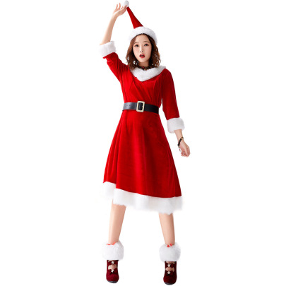 Christmas 7-point Sleeves Dress And Foot Cover Nihaostyles Wholesale Christmas Costumes NSPIS83363