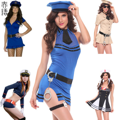 Navy Sailor Policewoman Costume Lingerie Nihaostyles Clothing Wholesale NSFCY83416