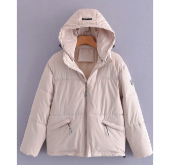 Short Solid Color Zipper Hooded Cotton-padded Jacket Nihaostyles Wholesale Clothing NSAM82956