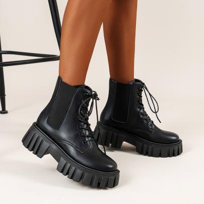 High Chunky Heel Short Boots Nihaostyles Clothing Wholesale NSYUS83244