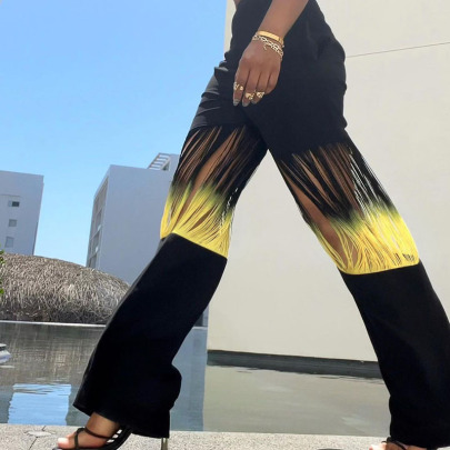 Tassel Hollow Casual Pants Nihaostyles Wholesale Clothing NSXE83284
