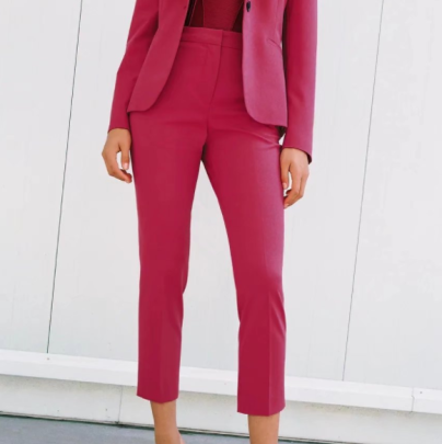 High-waist Straight-leg Nine-point Pants Nihaostyles Wholesale Clothing NSAM83443