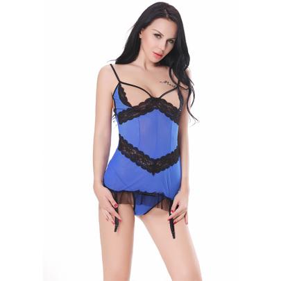 Net Yarn Garter Belt Underwear Set Nihaostyles Clothing Wholesale NSFCY83319