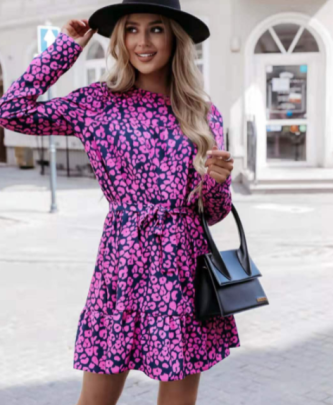 Small Flower Print Dress Nihaostyles Clothing Wholesale NSOUY83226