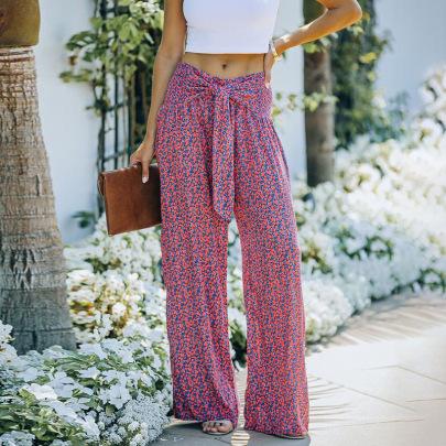 Printed High-waist Wide-leg Pants Nihaostyles Clothing Wholesale NSZH83664