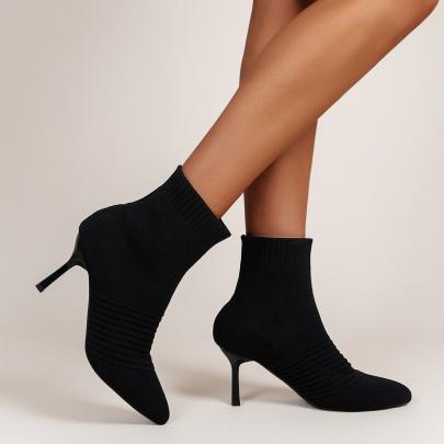 Pointed Toe Short Stiletto Boots Nihaostyles Clothing Wholesale NSYUS83544