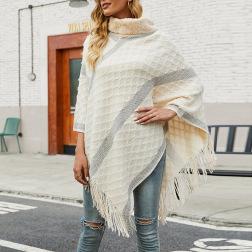 fur collar tassel shawl cloak sweater nihaostyles clothing wholesale NSMMY84056