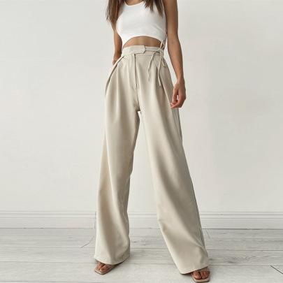 Bandage Wide Leg Pants Nihaostyles Clothing Wholesale NSFLY84158