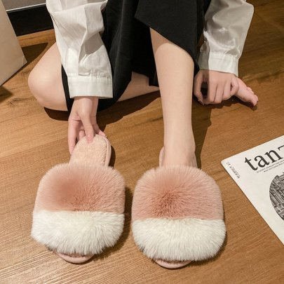 Color Matching Cotton Slippers Nihaostyles Clothing Wholesale NSDFX84206