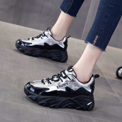 Color Block Flat Sneakers Nihaostyles Clothing Wholesale NSYUS84339