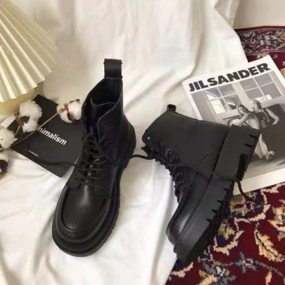 Lace-up Flat Boots Nihaostyles Clothing Wholesale NSYUS84477
