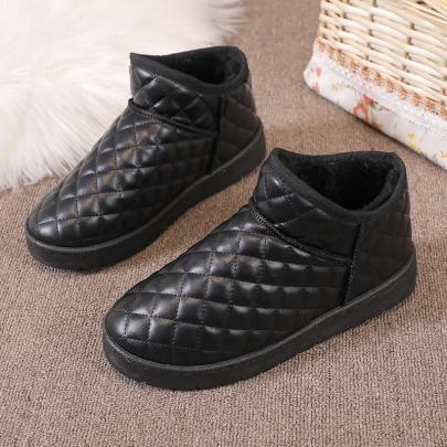 Velvet Flat-bottomed Boots Nihaostyles Clothing Wholesale NSYUS84470