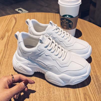 Pure White Platform Sneakers Nihaostyles Clothing Wholesale NSYUS84467
