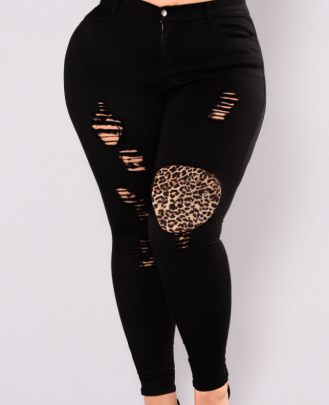 Plus Size Slim Ripped Jeans Nihaostyles Clothing Wholesale NSWL84310