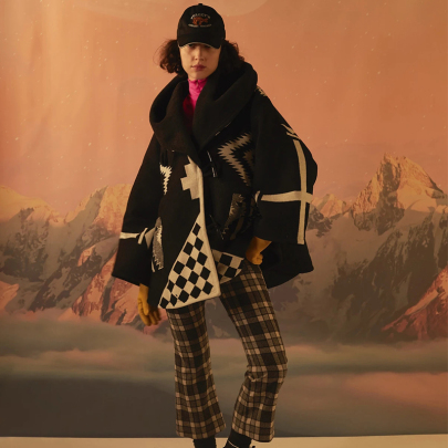 Long-sleeved Hooded Printed Woolen Coat Nihaostyles Clothing Wholesale NSYIS85461