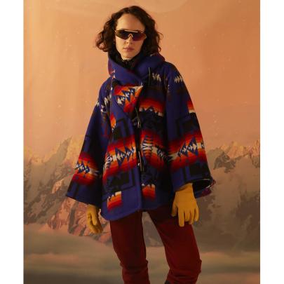 Long-sleeved Hooded Print Woolen Coat Nihaostyles Clothing Wholesale NSYIS85462