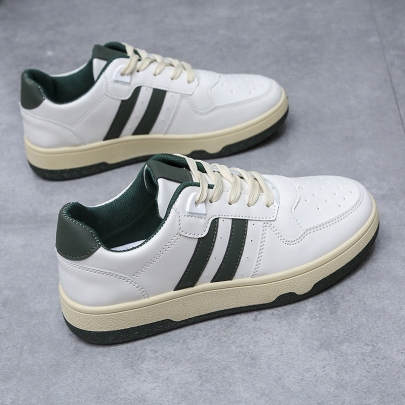 Flat Lace-up Casual Striped Sneakers Nihaostyles Clothing Wholesale NSYUS83540
