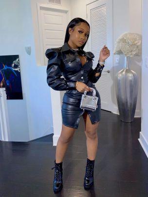 Lapel Puff Sleeve Single-breasted PU Leather Coat Nihaostyles Clothing Wholesale NSOSM84680