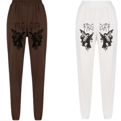 Loose Print Casual Pants Nihaostyles Wholesale Clothing NSXIA85117