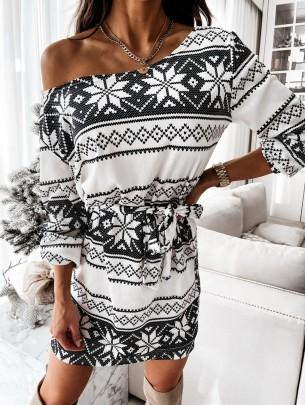 Christmas Printed Dress Nihaostyles Wholesale Christmas Costumes NSOUY85067