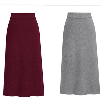 Solid Color Package Hip Wool Skirt Nihaostyles Wholesale Clothing NSXIA85062