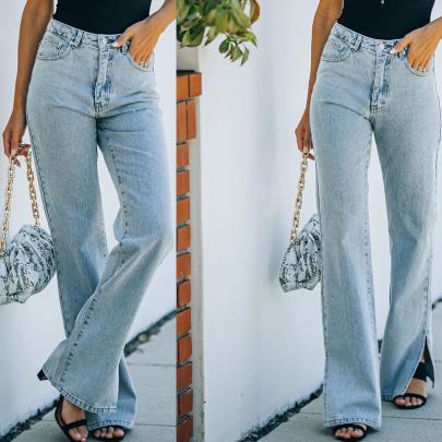 Slits Mopping Jeans Nihaostyles Wholesale Clothing NSXMI85054