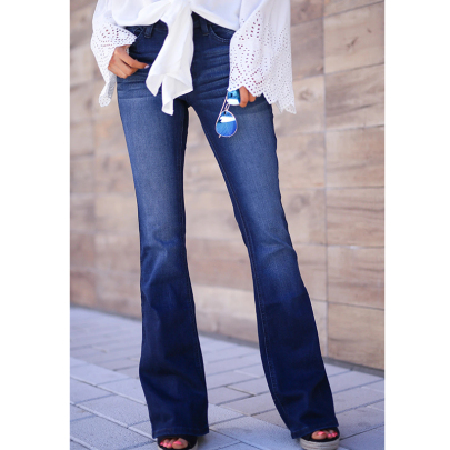 Casual Flared Jeans Nihaostyles Wholesale Clothing NSXMI85053