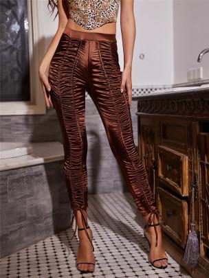 Drawstring High Waist Slim Pants Nihaostyles Clothing Wholesale NSXYA84973