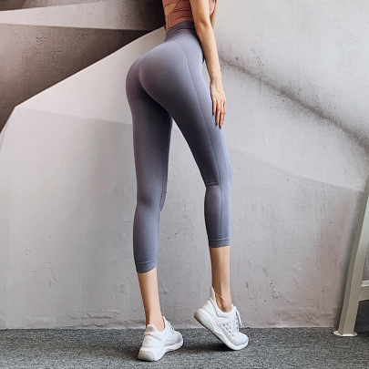 Letters Printed High Stretch Cropped Yoga Pants Nihaostyles Clothing Wholesale NSXER85016